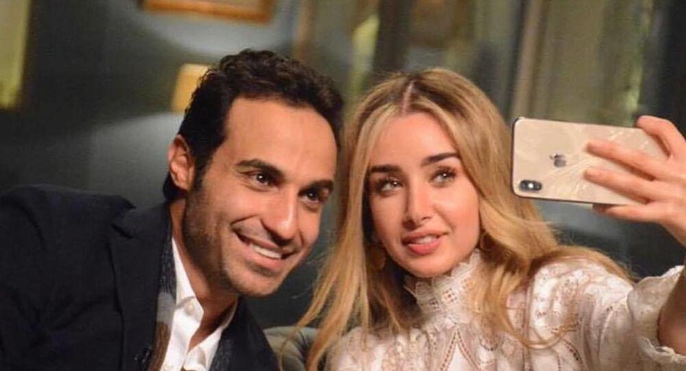 الفنانة المصرية هنا الزاهد مع زوجها الفنان المصري أحمد فهمي