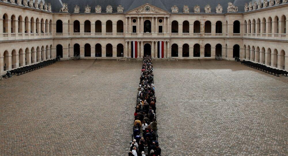 جنازة الرئيس الفرنسي الأسبق الراحل جاك شيراك في باريس، فرنسا 29 سبتمبر 2019