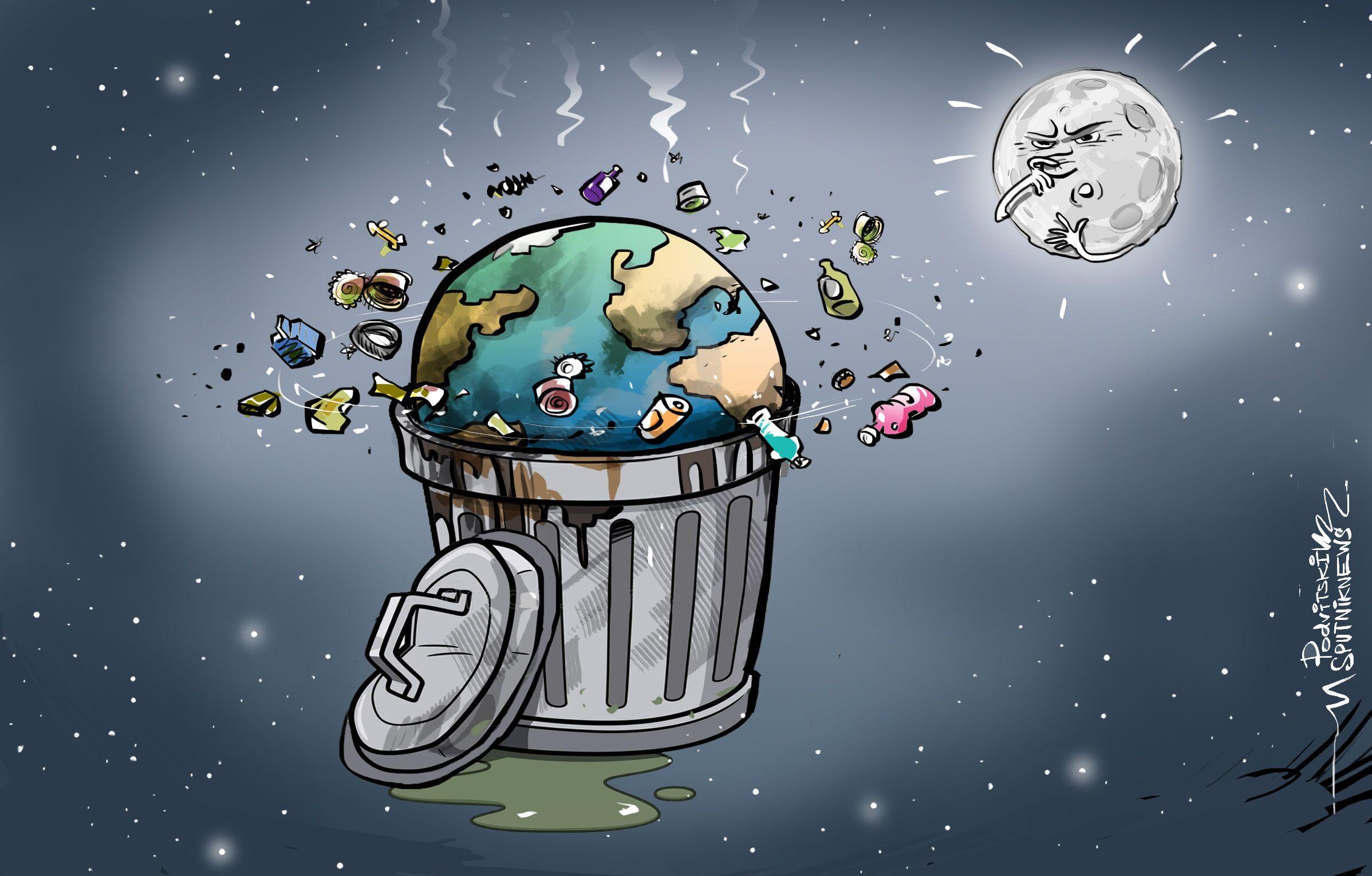 التلوث الفضائي