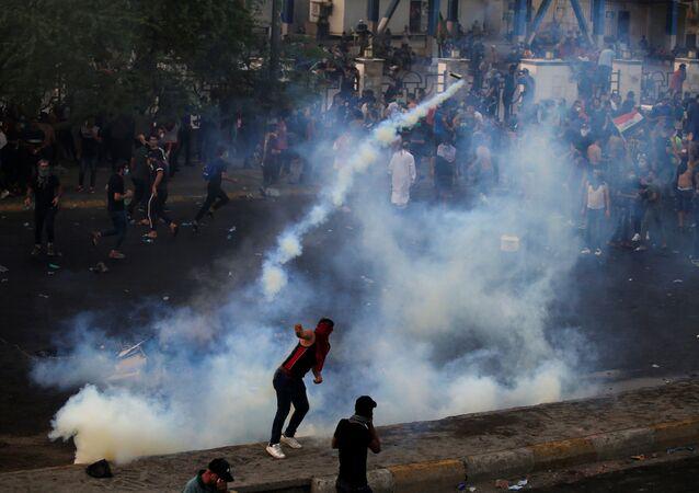 احتجاجت بغداد، العراق 2 أكتوبر 2019