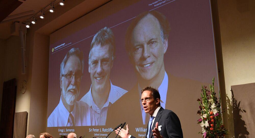 الأمريكيان وليام كايلين وغريغ سيمنزا والبريطاني السير بيتر رادلكيف الفائزين بجائزة نوبل في الطب