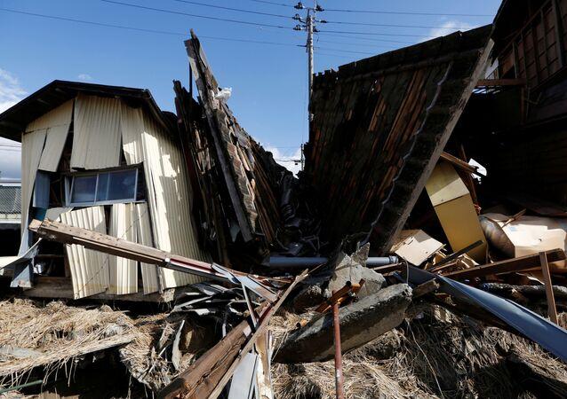 منازل مدمرة بفعل إعصار هاجيبيس في كورياما، اليابان، 15 أكتوبر/تشرين الأول 2019