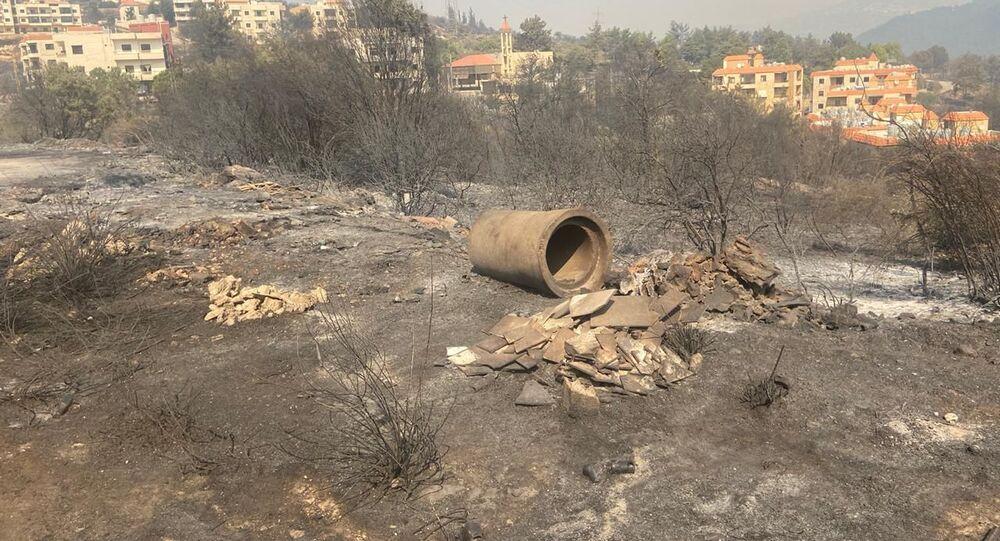 لبنان يستعين بالطوافات القبرصية واليونانية والاردنية لاخماد الحرائق