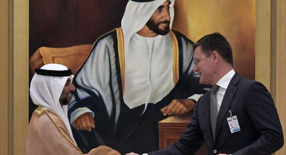 وزير الطاقة الروسي ألكسندر نوفاك  في الإمارات العربية المتحدة، 15 أكتوبر 2019