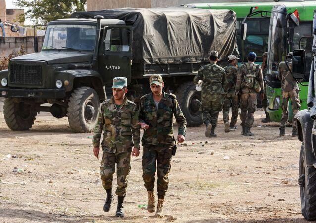 الوضع في منبج بعد دخول الجيش السوري، سوريا 16 أكتوبر 2019