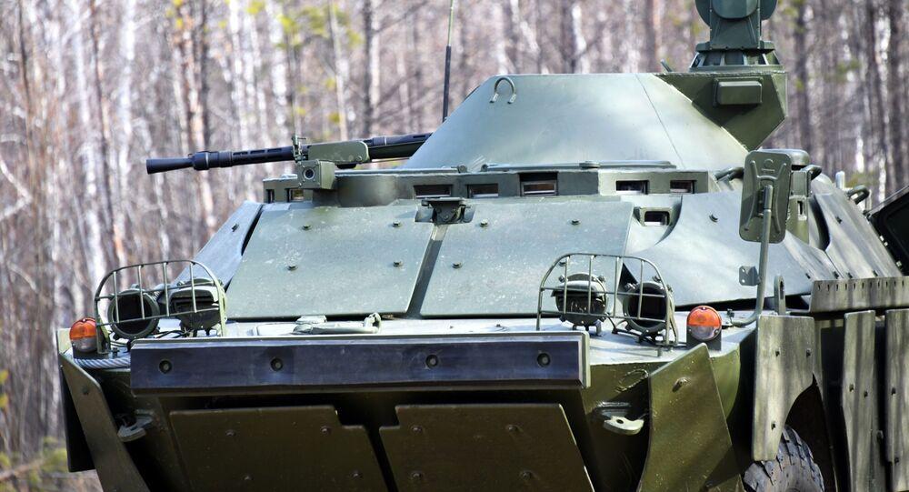 مركبات استطلاع قتالية روسية مطورة طراز بي إر دي إم في إقليم زا بايكاليه، روسيا