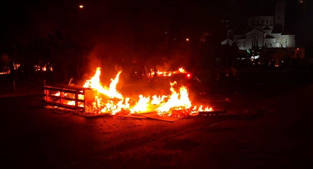 احتجاجات في منتصف بيروت في لبنان