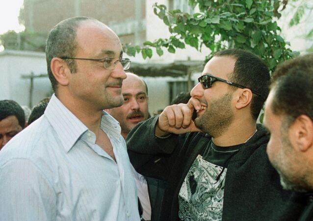 الفنان المصري أحمد السقا مع المخرج المصري شريف عرفة