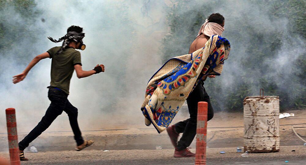 احتجاجات في بغداد، مظاهرات، العراق 25 أكتوبر 2019
