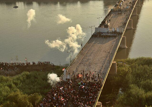 احتجاجات في بغداد، مظاهرات، العراق 26 أكتوبر 2019