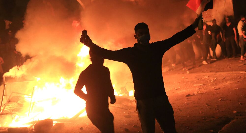 احتجاجات في بغداد، مظاهرات، العراق 27 أكتوبر 2019