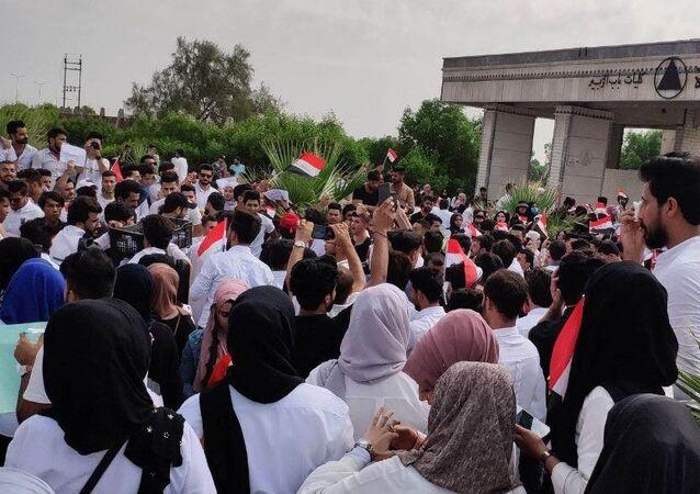 تظاهرات الطلاب في بغداد، العراق أكتوبر 2019