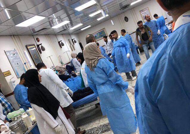مستشفى الجملة العصبية، العراق أكتوبر 2019