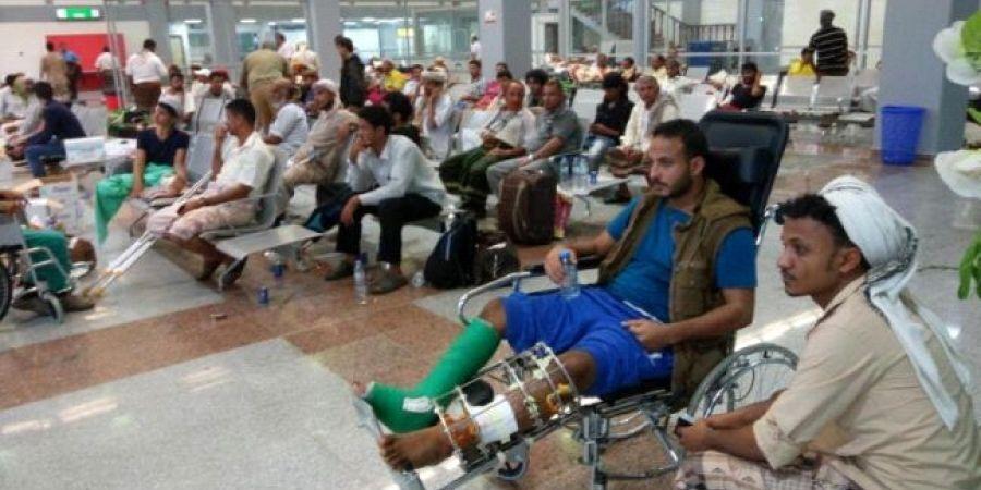 جرحى يمنيين في مستشفى هندي