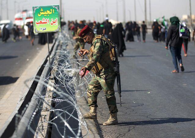 عسكري تابع لقوات الجيش العراقي