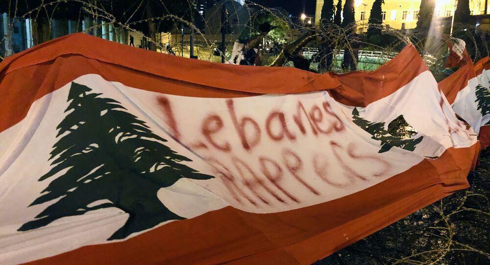 احتجاجات بيروت بعد إعلان استقالة سعد الحريري من منصب رئيس الحكومة اللبنانية، 29 أكتوبر 2019