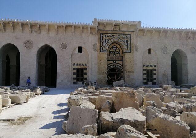 دمره الإرهاب بعد المغول.. أموي حلب وقبر النبي زكريا ينهضان مجددا