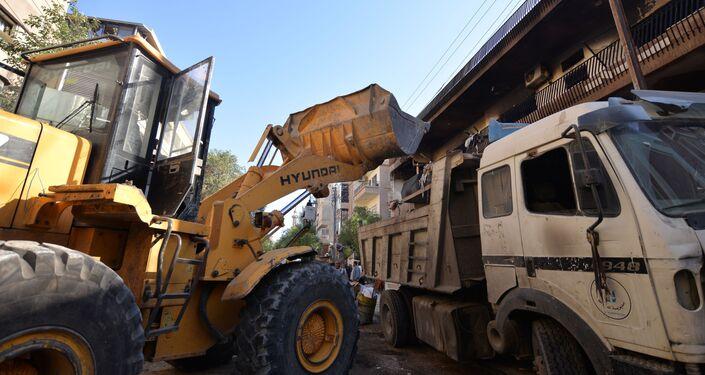 تداعيات القصف الإسرائيلي على حي المزة في دمشق