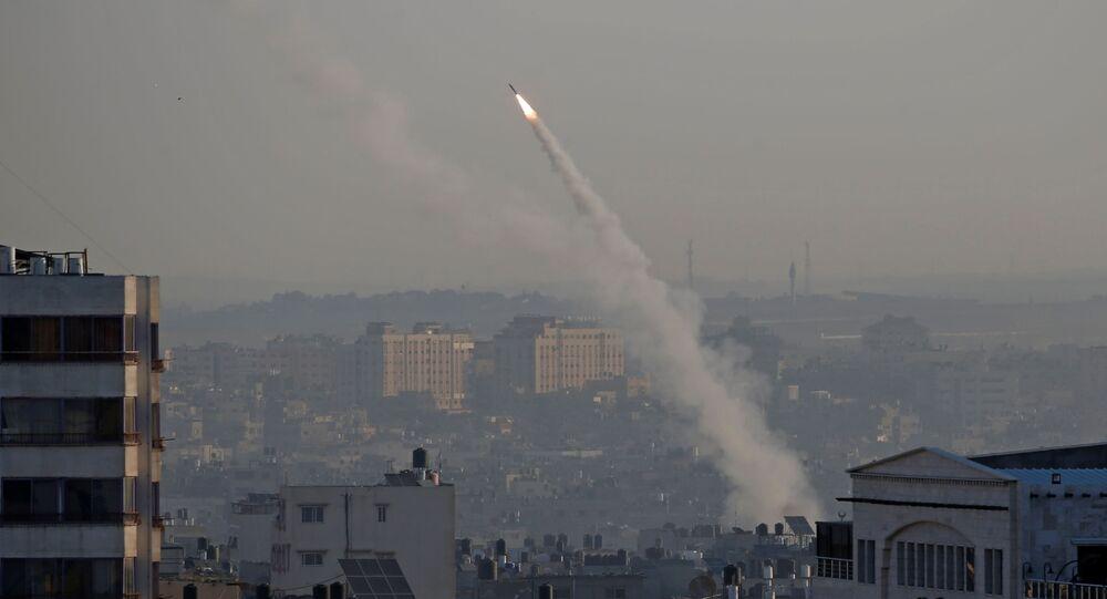صاروخ من قطاع غزة على إسرائيل