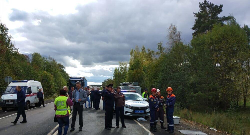 حادث سير في روسيا