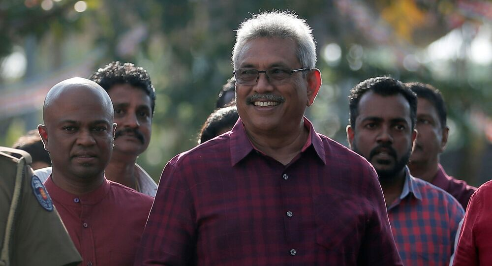 وزير الدفاع السابق ومرشح المعارضة السريلانكي غوتابايا راجاباكسا