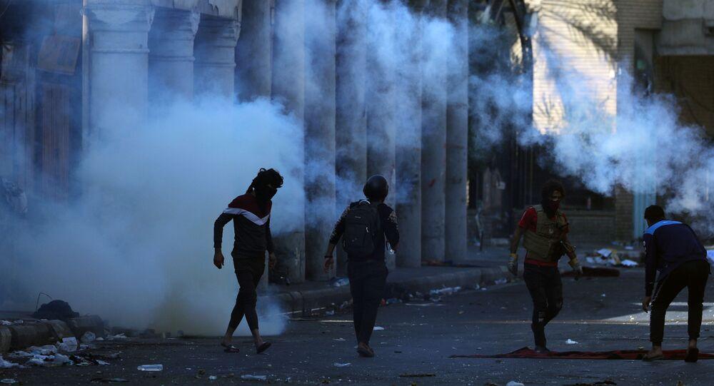 أعمال شغب في مظاهرات العراق