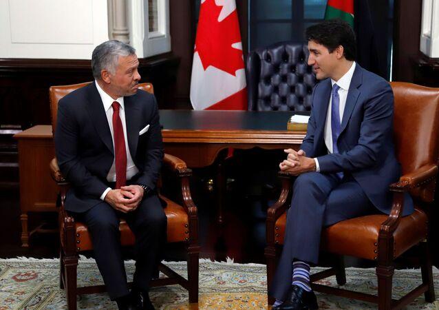 جاستين ترودو رئيس وزراء كندا والملك عبد الله الثاني