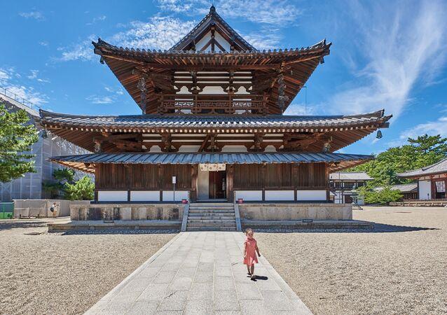 صورة لـمعبد هوريو-جي في اليابان، للمصور سارة راولينسون، التي وصلت إلى نهائي مسابقة المصور التاريخي لعام 2019