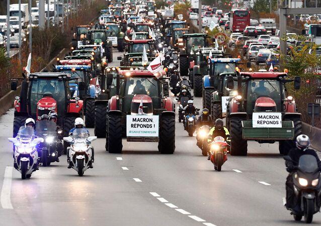 احتجاجات المزارعين في فرنسا