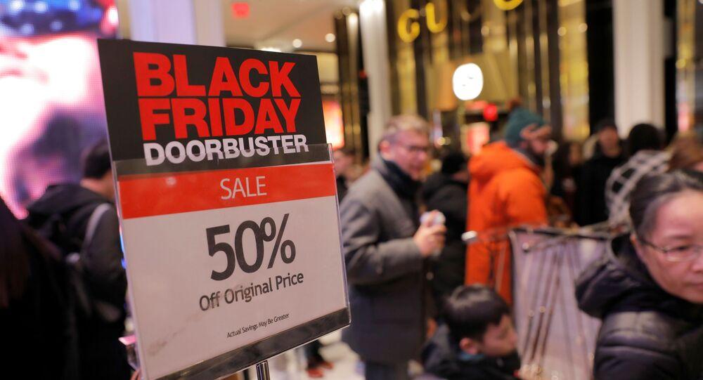 الجمعة السوداء في نيويورك، الولايات المتحدة 29 نوفمبر 2019