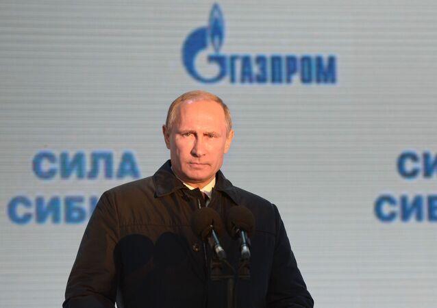 الرئيس الروسي فلاديمير بوتين يطلق عملية تزويد الصين بالغاز الروسي عبر خط قوة سيبيريا