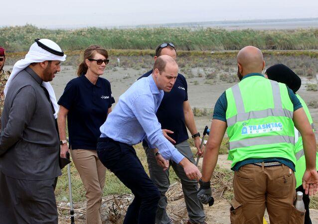الأمير البريطاني وليام خلال زيارته محمية الجهراء في الكويت، 2 ديسمبر/كانون الأول 2019