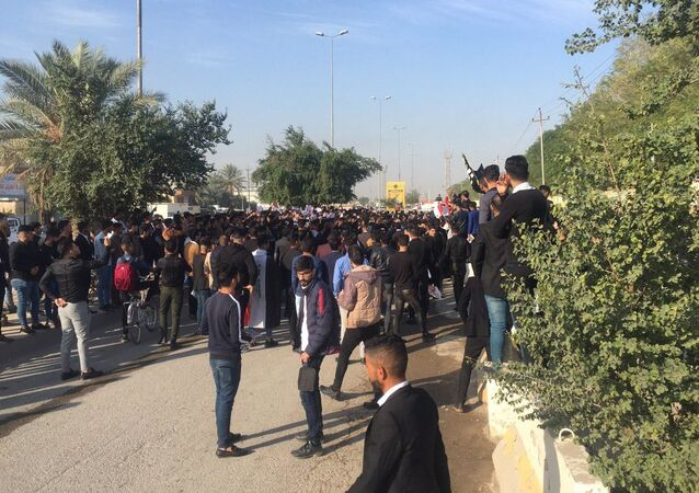 مظاهرات في سامراء، العراق ديسمبر 2019