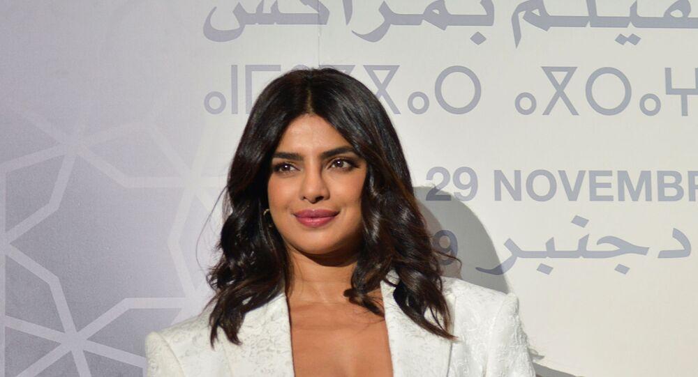الممثلة الهندية بريانكا تشوبرا في الدورة الـ18 لمهرجان مراكش الدولي للفيلم