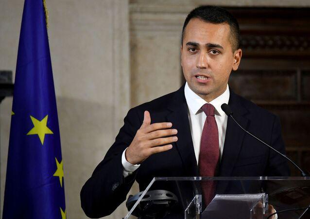 وزير خارجية إيطاليا لويجي دي مايو