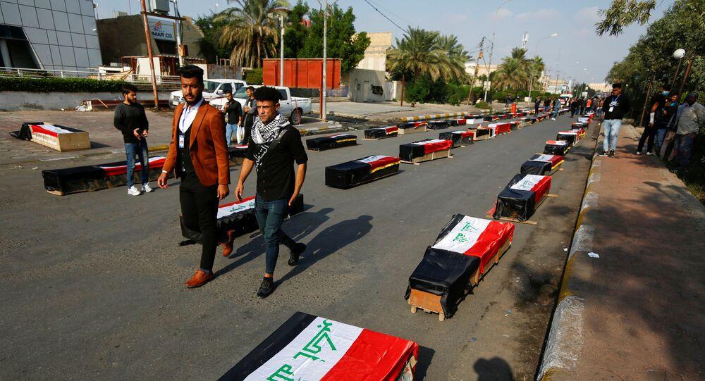 صناديق قتلى في العاصمة العراقية بغداد