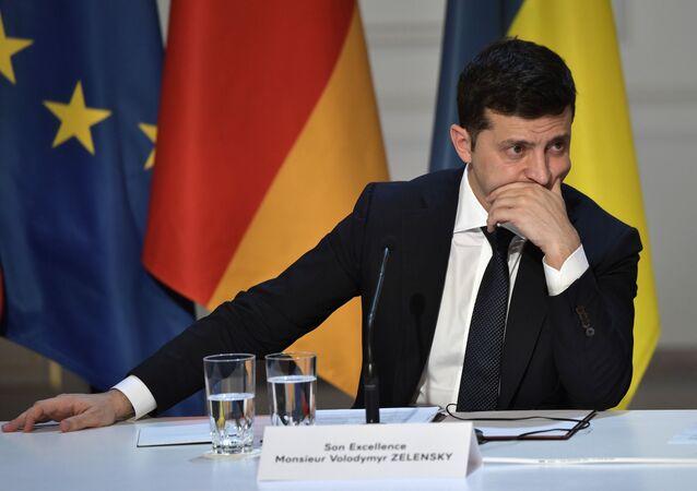 قمة نورماندي - الرئيس الأوكراني فلاديمير زيلينسكي في  باريس، 9 ديسمبر 2019