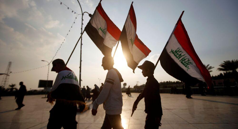 احتجاجات مناهضة للحكومة العراقية في بغداد، العراق 10 ديسمبر 2019