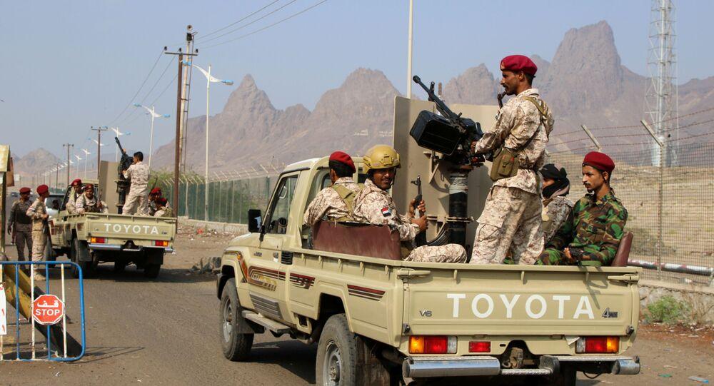 قوات المجلس الانتقالي الجنوبي في عدن، اليمن 10 ديسمبر 2019