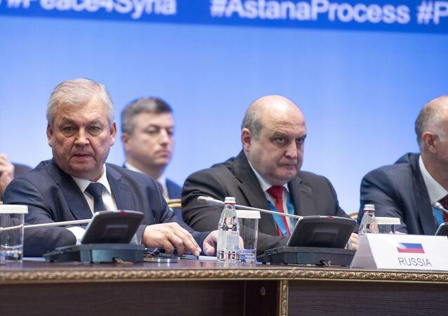 المبعوث الخاص للرئيس الروسي للتسوية السورية، ألكسندر لافرينتيف، في محادثات أستانا (نور سلطان)، كازاخستان 11 ديسمبر 2019