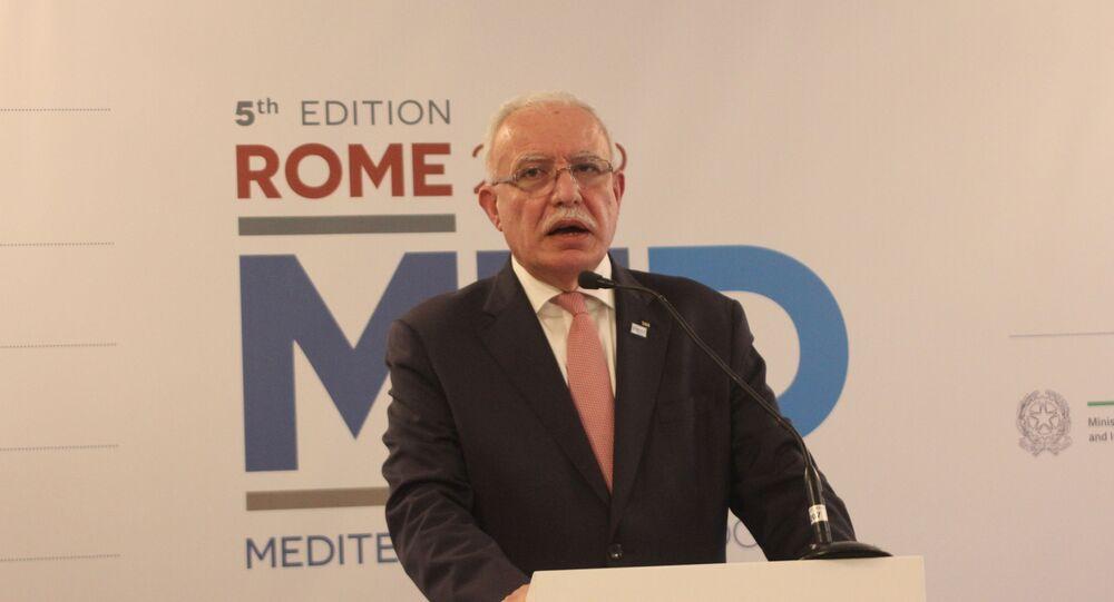 وزير الخارجية الفلسطيني، رياض المالكي