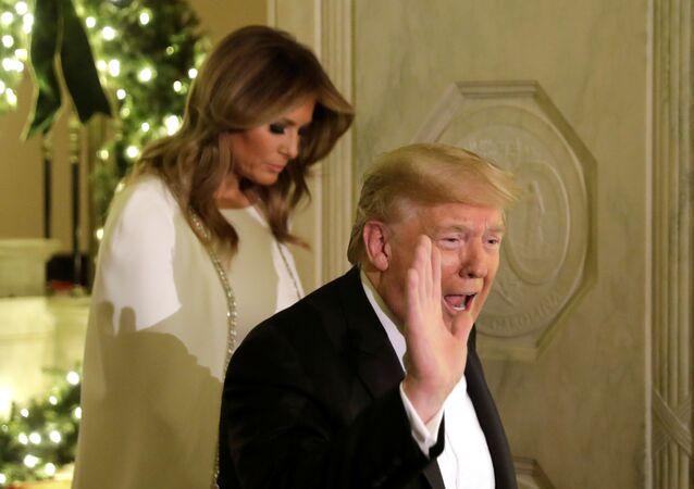الرئيس الأمريكي دونالد ترامب وزوجته ميلانيا ترامب
