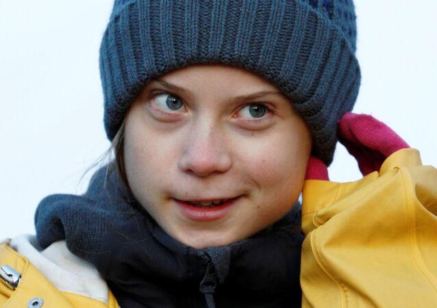 الناشطة البيئية السويدية غريتا تونبرغ في مدينة تورينو الإيطالية، 13 ديسمبر/ كانون الأول 2019