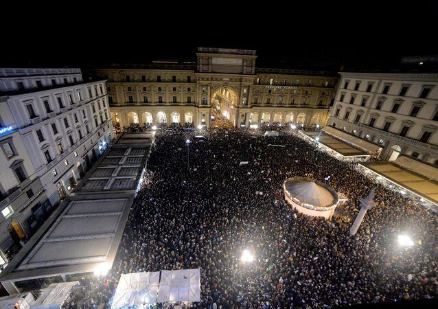 مظاهرات إيطاليا