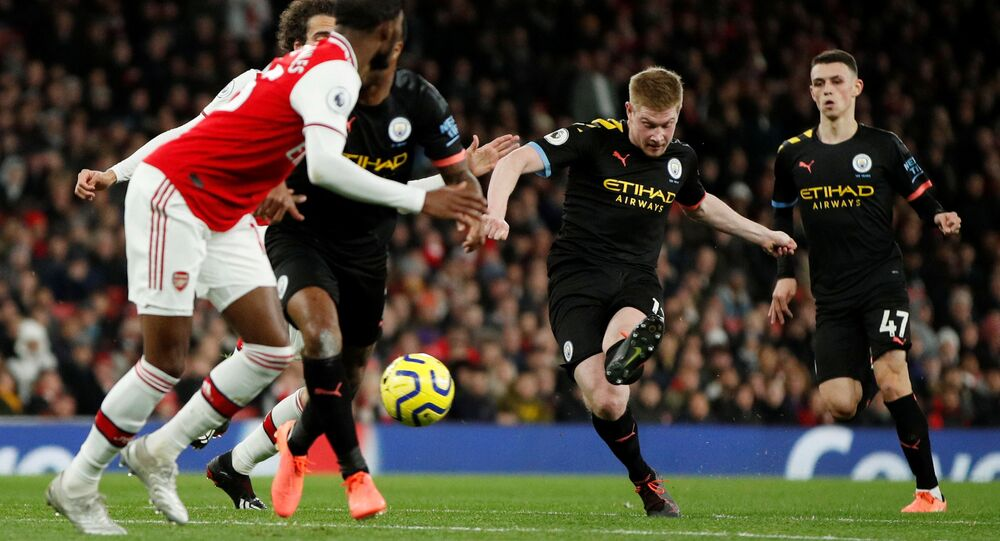 مباراة مانشستر سيتي وأرسنال في الدوري الإنجليزي