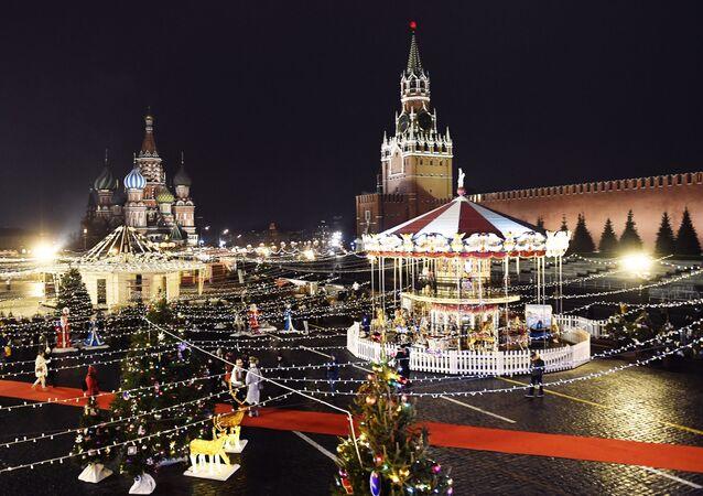 مهرجان غوم على الساحة الحمراء في موسكو، روسيا