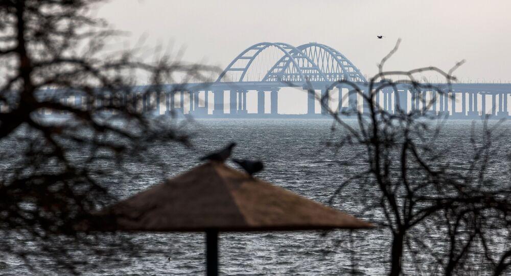 الانتهاء من بناء جسر القرم، شبه جزيرة القرم، روسيا