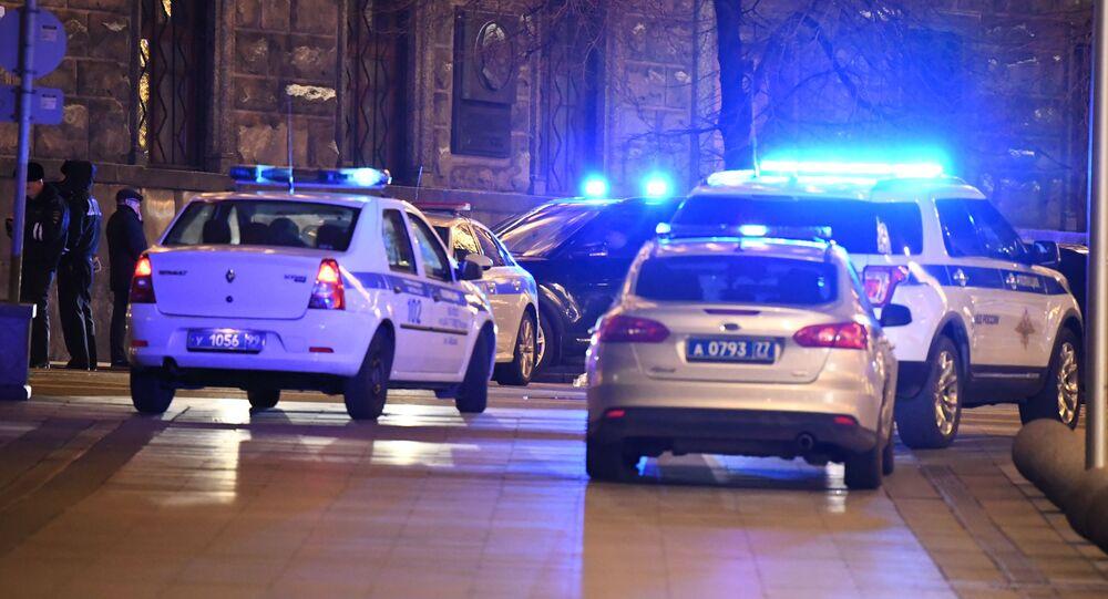 حادث إطلاق نار في شارع بولشايا لوبيانكا وسط موسكو، روسيا 19 ديسبمبر 2019