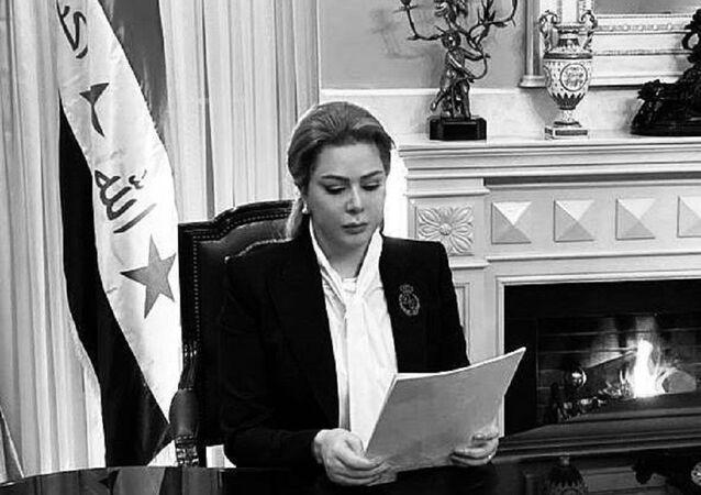 رغد صدام حسين توجه رسالة للمتظاهرين في العراق
