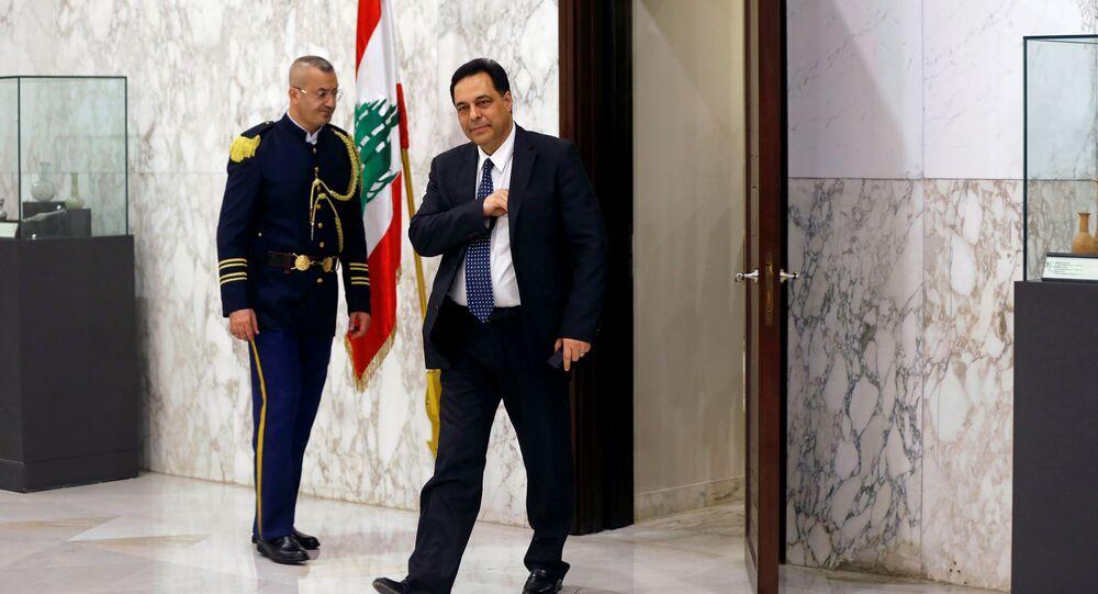 رئيس الحكومة اللبنانية المكلّف حسان دياب، بيروت، لبنان 19 ديسمبر 2019